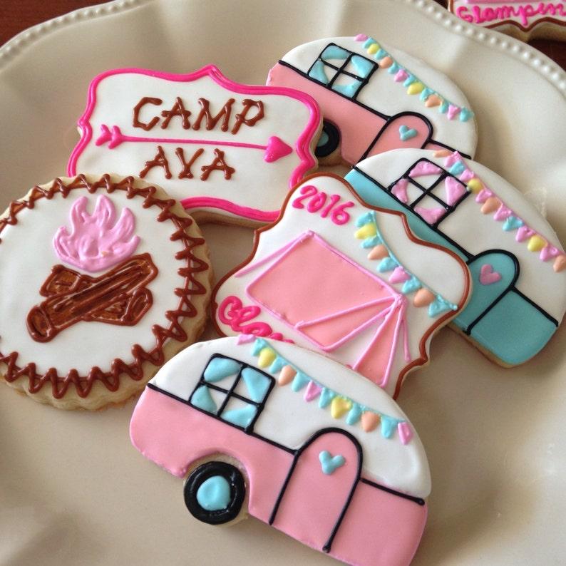 Custom Glamping Cookies  1 Dozen image 0