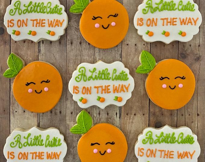 CUTIE ON the WAY Baby Shower Cookies-1 Dozen