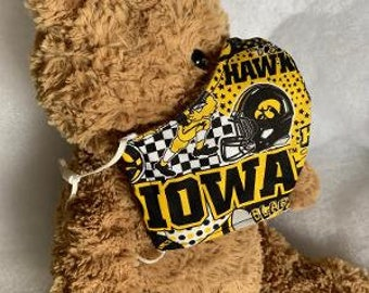 IOWA Hawkeyes ~ Iowa State or MN Gophers ~ NCAA Face Masks ~ Optional Removable  Nose Wire