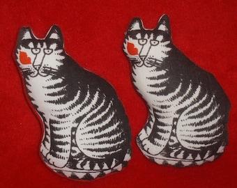 Kliban Cat Fabric ORGANIC Catnip TOYS
