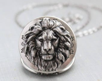 Lion Locket Necklace