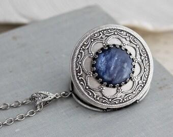 Kyanite Locket Necklace