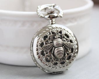 Bee Pocket Watch Necklace