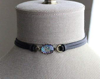 Dragon Scale Leather Choker and/or Bracelet