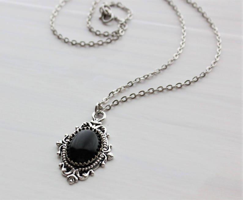 065dc54064008 Black Onyx Necklace. Gemstone Necklace.