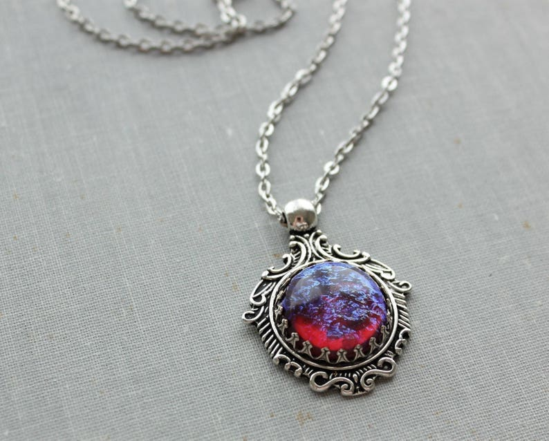 Mexican Fire Opal Necklace 4 Fire opal options
