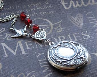 Silver Locket Necklace - Enchanted Royal Immortal - Jewelry By TheEnchantedLocket - PERFECT Wedding Anniversary Graduation Gift