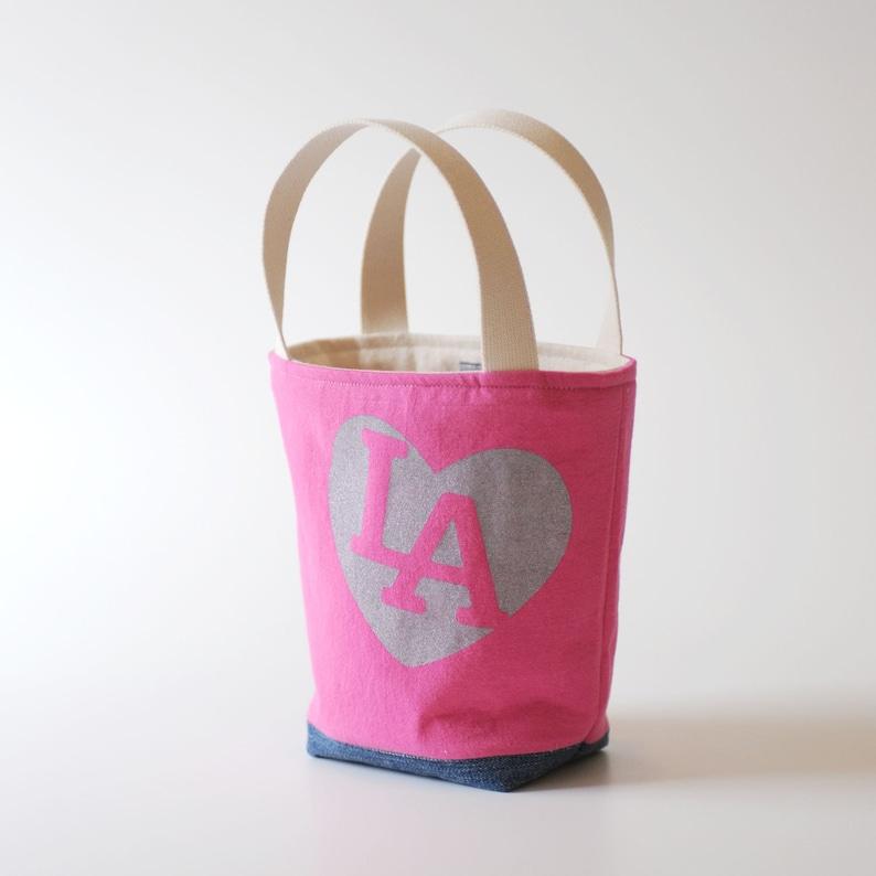 Mini Tote I love LA Hot Pink