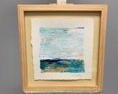 Water on Paper series - Ocean Painting - watercolor paper, Ocean art, original painting, Sea painting, Fine Art,colorful painting, Liz Wiley