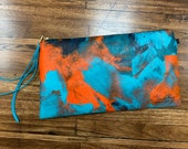 Painted Clutch #52, Painted Bag, Painted Purse, Canvas Bag, Canvas clutch, Unique, Statement Clutch, One of a Kind Bag with Dust Cover
