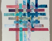 Woven 4512 - Putting the Pieces Back Together, Acrylic on canvas, Repurposed art, canvas art, canvas painting, fine art