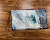 Painted Clutch #37, Painted Bag, Painted Purse, Canvas Bag, Canvas clutch, Unique, Statement Clutch, One of a Kind Bag with Dust Cover