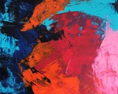 Large Abstract Painting, Abstract art, original painting, canvas art, abstract, Fine Art, acrylic painting, colorful painting, Liz Wiley
