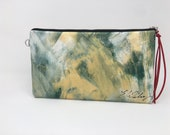 Painted Clutch #23, Painted Bag, Painted Purse, Canvas Bag, Canvas clutch, Unique, Statement Clutch, One of a Kind Bag with Dust Cover