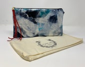Painted Clutch #43, Painted Bag, Painted Purse, Canvas Bag, Canvas clutch, Unique, Statement Clutch, One of a Kind Bag with Dust Cover