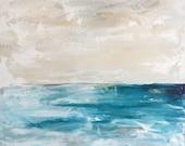 Always Rolling Waters Large Ocean Painting, Ocean art, original painting,Sea, Fine Art, acrylic painting, colorful painting, Liz Wiley