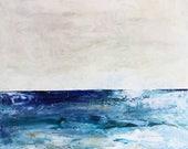 Deep Blue Waters Large Ocean Painting, Ocean art, original painting, Sea painting, Fine Art, acrylic painting, colorful painting, Liz Wiley