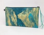 Painted Clutch #4, Painted Bag, Painted Purse, Canvas Bag, Canvas clutch, Unique, Statement Clutch, One of a Kind Bag