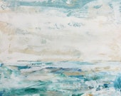 Tranquil Waters - Large Ocean Painting, Ocean art, original painting, canvas art, Sea painting, Fine Art,colorful painting, Liz Wiley