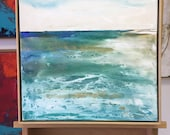 Exhale Large Ocean Painting, Ocean art, original painting, canvas art, Sea painting, Fine Art, acrylic, colorful painting, Liz Wiley