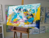 Abstract painting Fine art Large Original, Canvas, Art, Painting, Abstract, Colorful Abstract