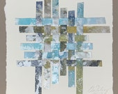 Woven 4547 - Putting the Pieces Back Together, Acrylic on canvas, Repurposed art, canvas art, canvas painting, fine art