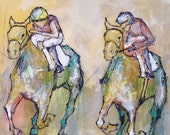 Classic - Large Horse Painting, Equestrian art, original Race Horse painting, canvas art, Modern Horse painting, acrylic painting, Liz Wiley