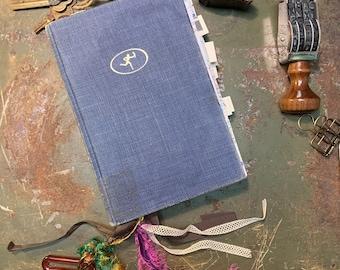J7 - Small Handmade Journal, Mixed media Journal, Art Journal, Junk Journal, Sketch Journal, Smash book,  Sketchbook, Junk book