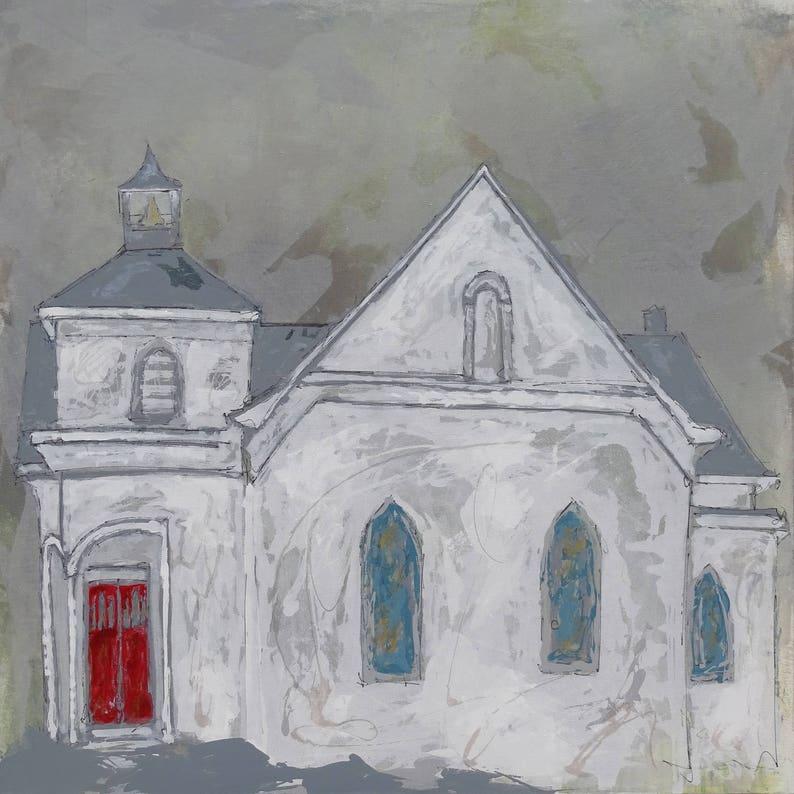 Potosi Methodist Church  Church Painting Church art image 0