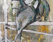 Jumping Order - Large Horse Painting, Equestrian, Jumping Horse painting, canvas art, modern horse art, acrylic painting, Liz Wiley