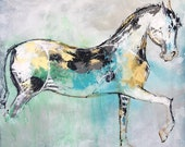 Tuco - Horse painting, Equestrian canvas painting, Original fine art - Large 36x36 inches Original Acrylic Canvas Painting,