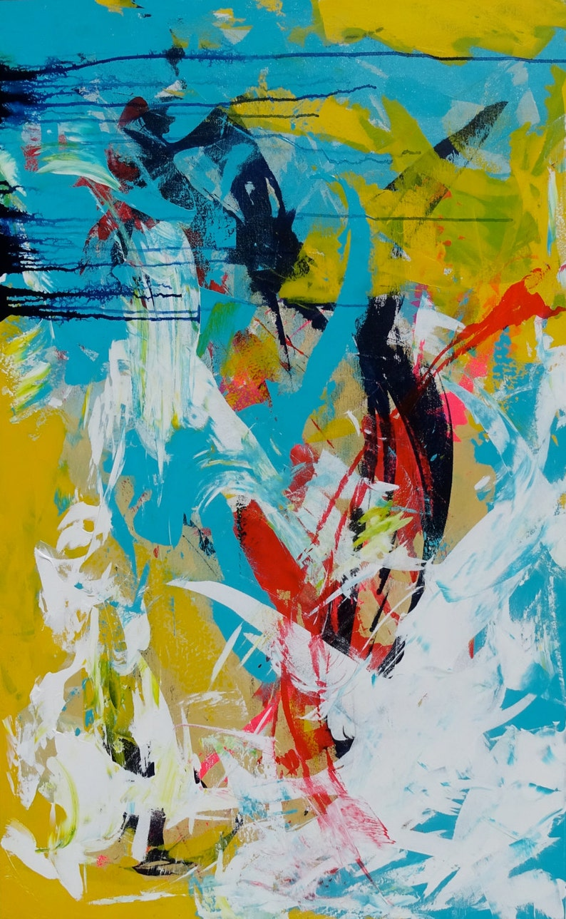 Abstract painting Fine art Large Original Canvas Art image 0