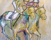 Blanket Finish - Large Horse Painting, Equestrian art, Modern Horse painting, canvas art, horse art, Fine Art, acrylic painting, Liz Wiley