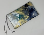 Painted Clutch #41, Painted Bag, Painted Purse, Canvas Bag, Canvas clutch, Unique, Statement Clutch, One of a Kind Bag with Dust Cover