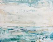 Tranquil Waters - Large Ocean Painting, Ocean art, original painting, canvas art, Sea painting, Fine Art,colorful painting, Liz Wiley