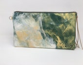 Painted Clutch #3, Painted Bag, Painted Purse, Canvas Bag, Canvas clutch, Unique, Statement Clutch, One of a Kind Bag with Dust Cover