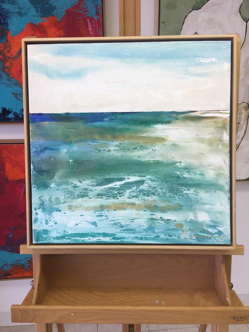 Exhale Large Ocean Painting Ocean art original painting image 0