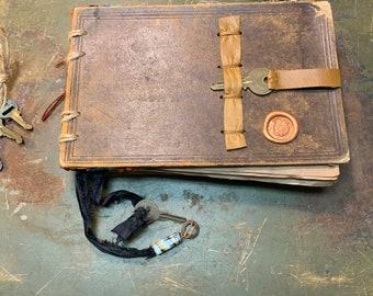 J28 - Medium Handmade Journal, Mixed media Journal, Art Journal, Junk Journal, Sketch Journal, Smash book,  Sketchbook, Junk book