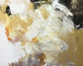 Gold Abstract Painting, Abstract art, original painting, canvas art, abstract, Fine Art, acrylic painting, colorful painting, Liz Wiley