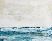Winter Waters Large Ocean Painting, Ocean art, original painting, canvas art, Sea painting, Fine Art, acrylic, colorful painting, Liz Wiley