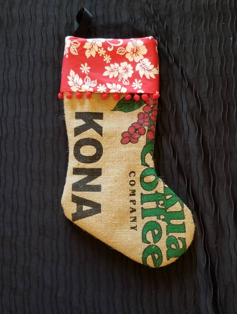 Hawaiian Coffee Christmas Stocking image 0