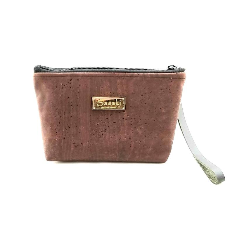 Brown Cork Gadget Bag Bag organizer zipper pouch 9 x 5