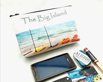 "9"" x 5"" - SUP Gadget Bag - zipper pouch - Bag organizer -  Kayak - Hawaii"