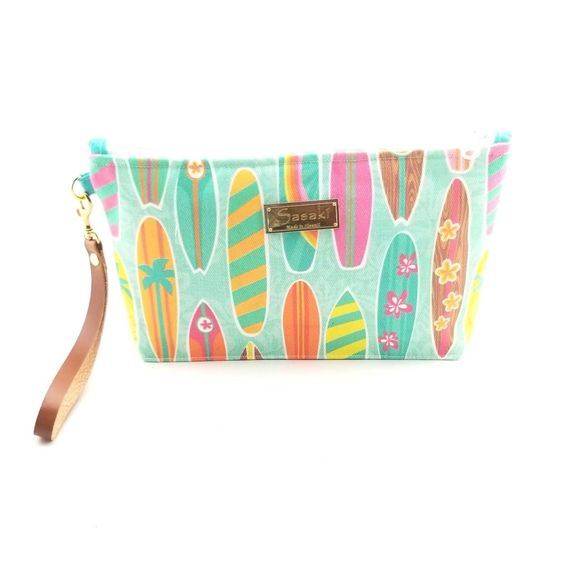 Surfboard Wristlet with Leather Strapmade in Hawaii image 0