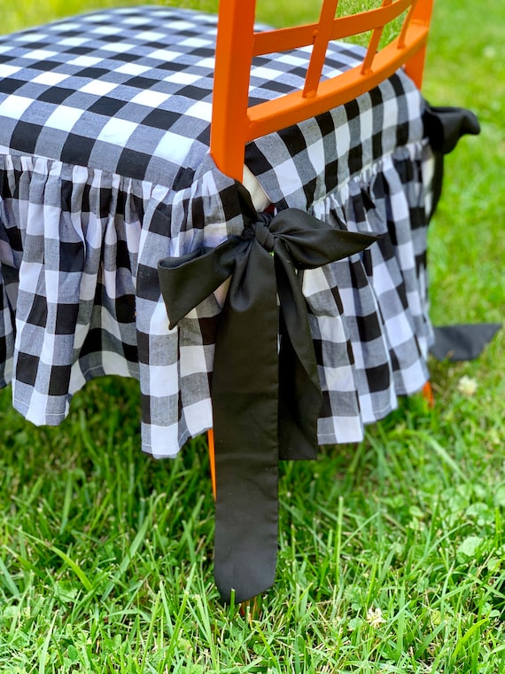 Terrific Gingham Chair Cover Andrewgaddart Wooden Chair Designs For Living Room Andrewgaddartcom