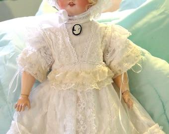 Lace Doll Dress & Bonnet