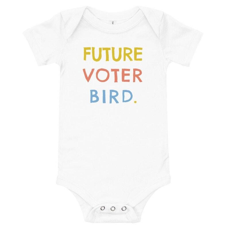 Bird Lover Gifts Baby Outfit Baby Shower Gift Future Voter Bird Onesie Gift for New Mama Baby Voter Vote Onesie Birder Onesies