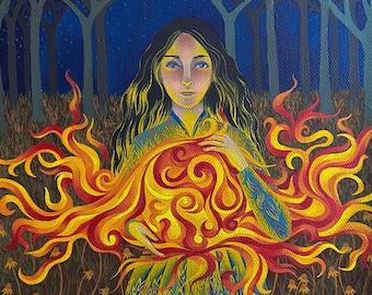 Fire element print