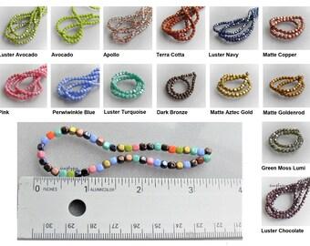 100 Metallic Dark Forest Suede Czech Glass Tear Drop Teardrops Beads 6MM