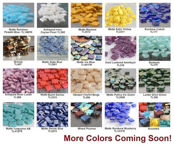 10 Grams Japanese Miyuki Tila Beads-Flat Square 5x5x1.9mm TL306